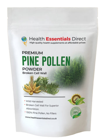 Pine Pollen Powder, Cracked Cell Wall (Wild Harvested, Body Building)