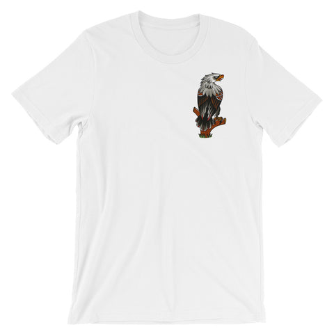 Eagle Pocket Unisex short sleeve t-shirt by Myke Chambers