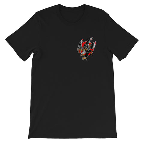 """Screaming Eagle"" FRONT/BACK Short-Sleeve Unisex T-Shirt by Myke Chambers"