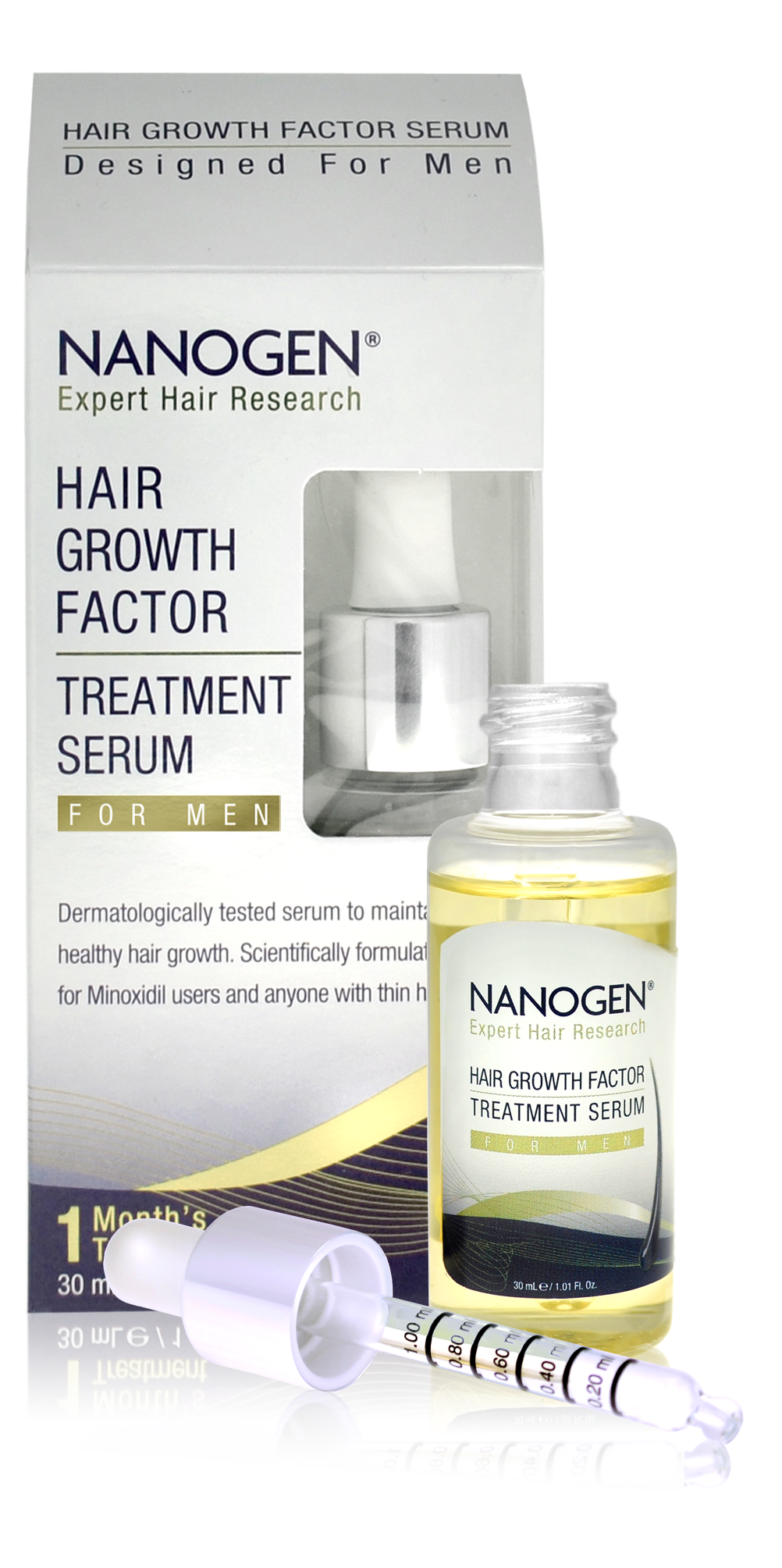 Nanogen Hair Growth Factor Treatment Serum for Men 30ml