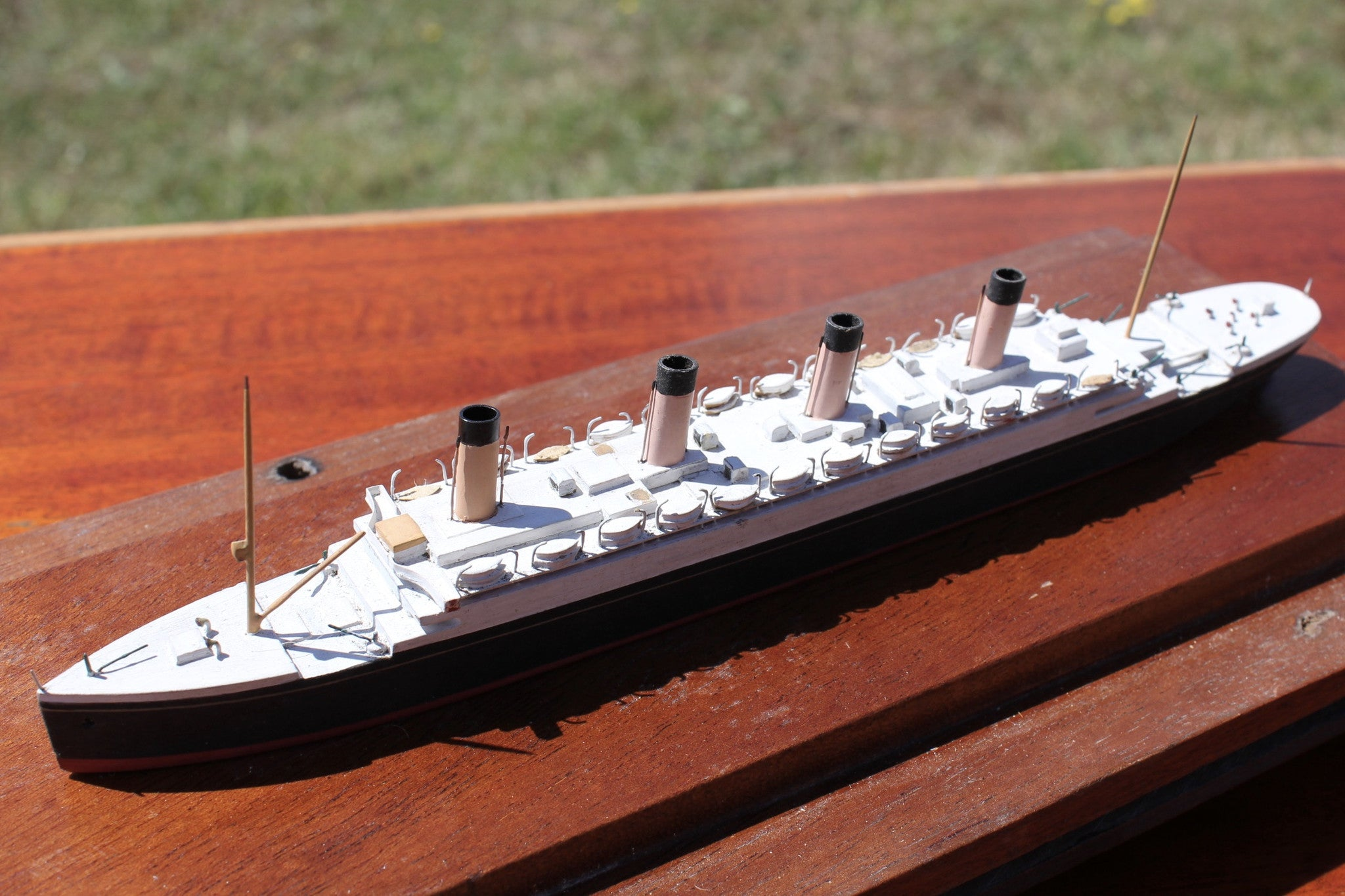 Bassett Lowke, White Star Line. RMS Olympic, waterline model timbers from ship