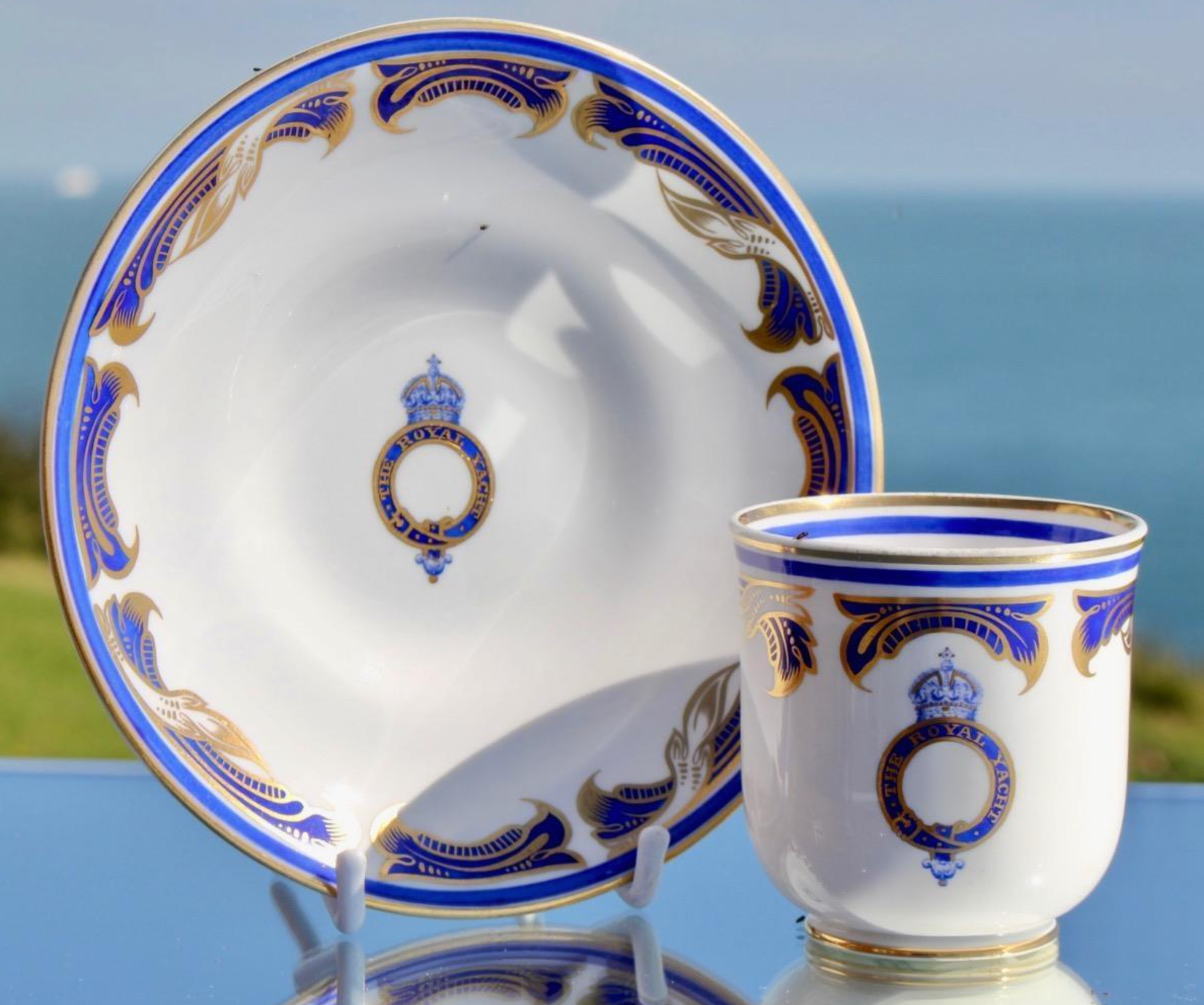 Royal Yacht HMY Victoria & Albert III King George V Copelands Spode cup & saucer