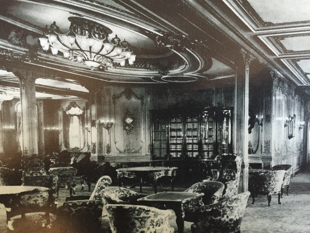 White Star Line Rms Olympic First Class Lounge Stained