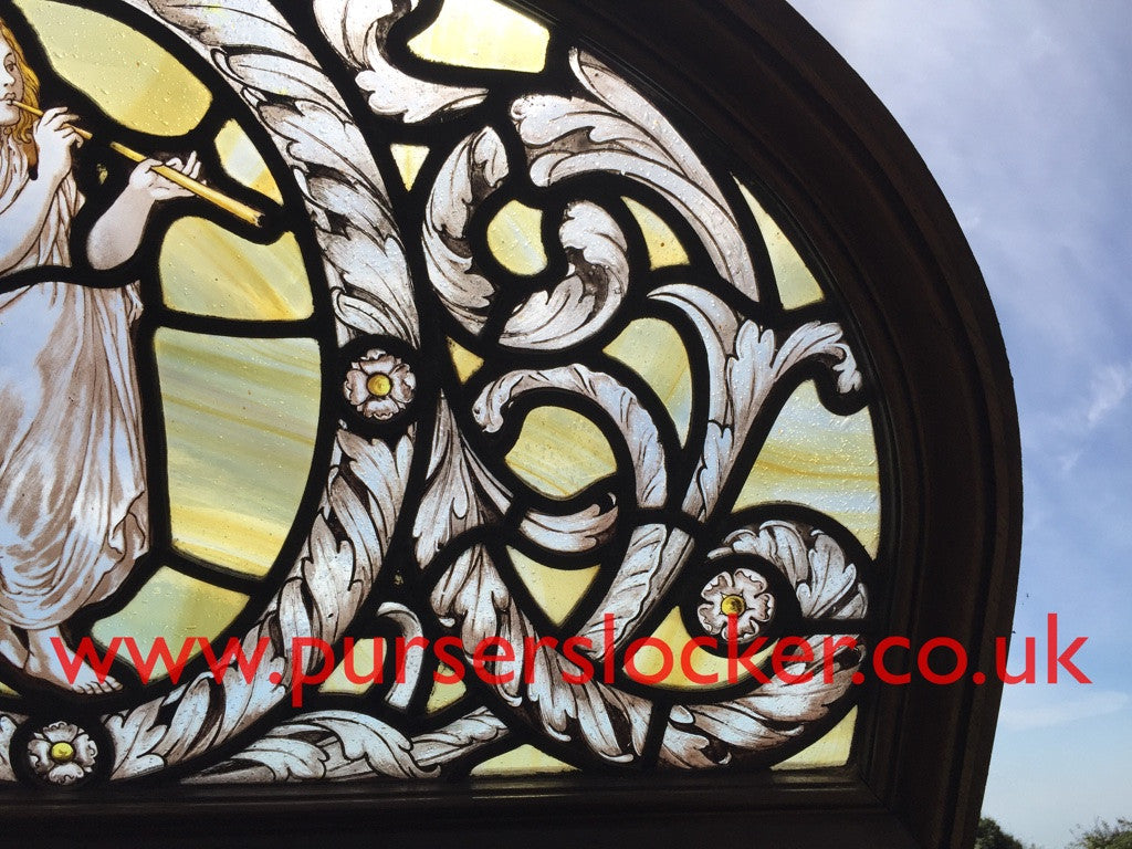 White Star Line, RMS Olympic. First Class lounge stained glass window 1911.