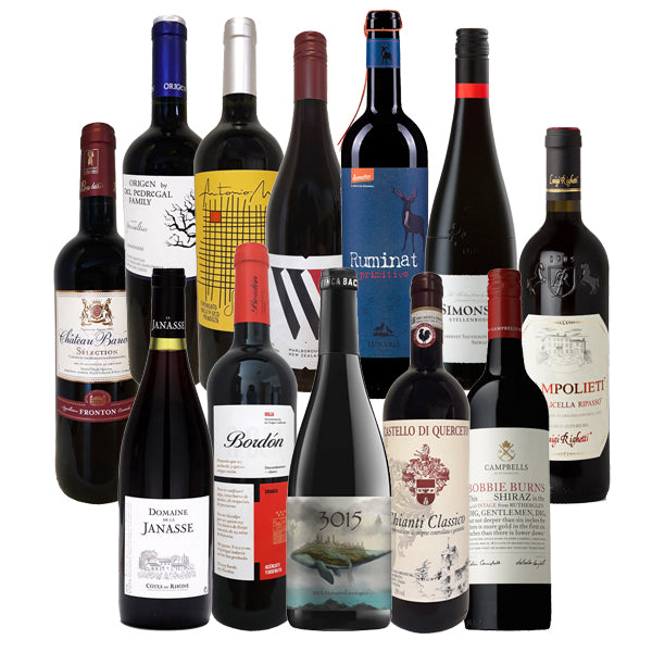 The Buyers' Dozen Reds Taster Case – Save £1.66/bottle
