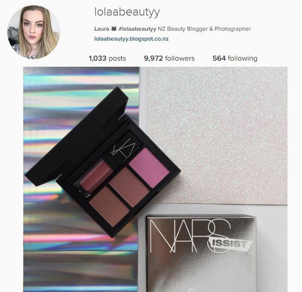 @lolaabeauty NARS Narsissist Blush, Contour and Lip Palette