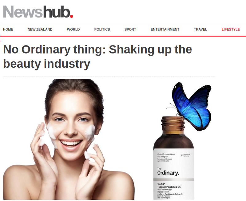 No Ordinary thing: Shaking up the beauty industry
