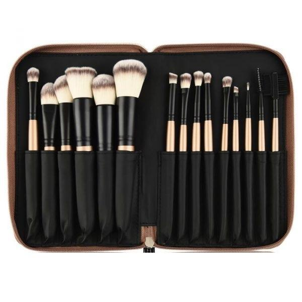OPV BEAUTY 15 Piece Golden Brush Set