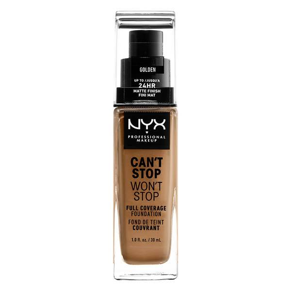 NYX PROFESSIONAL MAKEUP Can't Stop Won't Stop Full Coverage Foundation - Golden