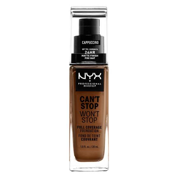 NYX PROFESSIONAL MAKEUP Can't Stop Won't Stop Full Coverage Foundation - Cappuccino