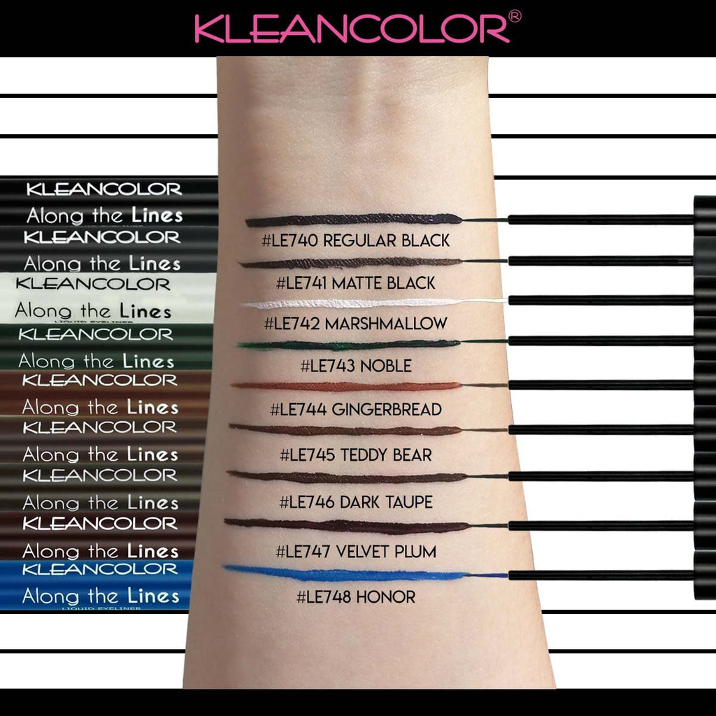 KLEANCOLOR Along The Lines Liquid Eyeliner - Regular Black