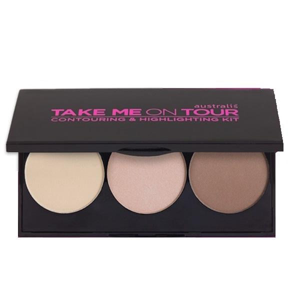 AUSTRALIS Take Me On Tour Contouring & Highlighting Powder Kit