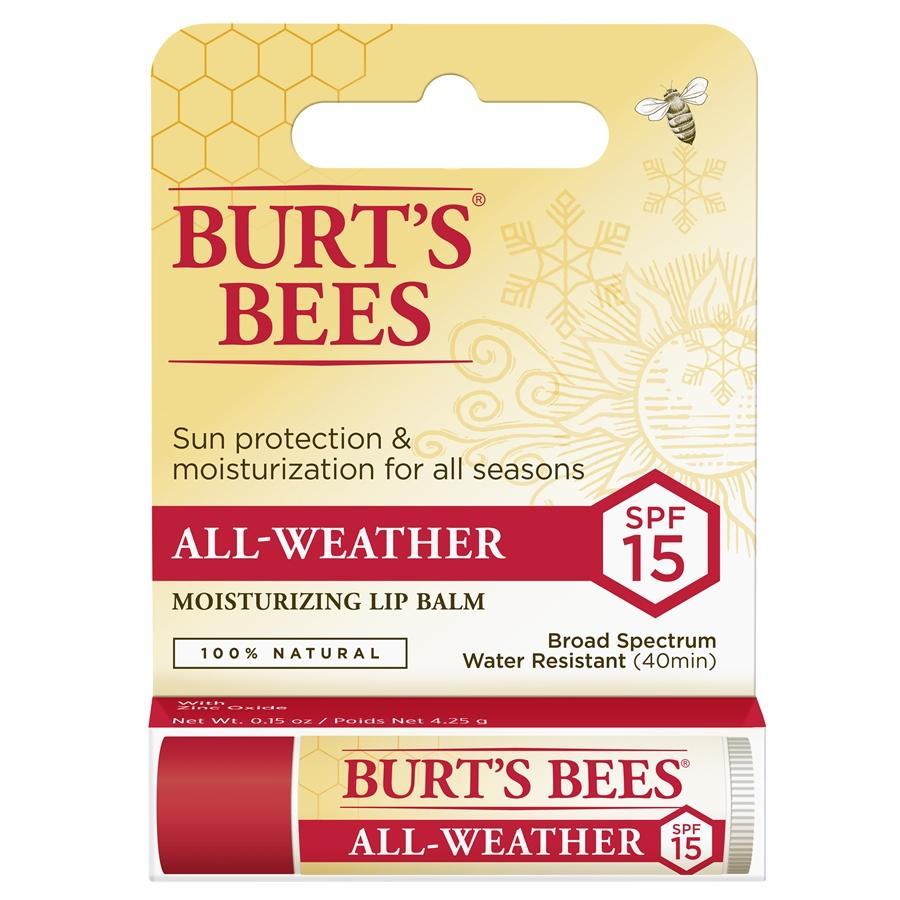 BURT'S BEES Lip Balm - All Weather SPF 15 Moisturizing