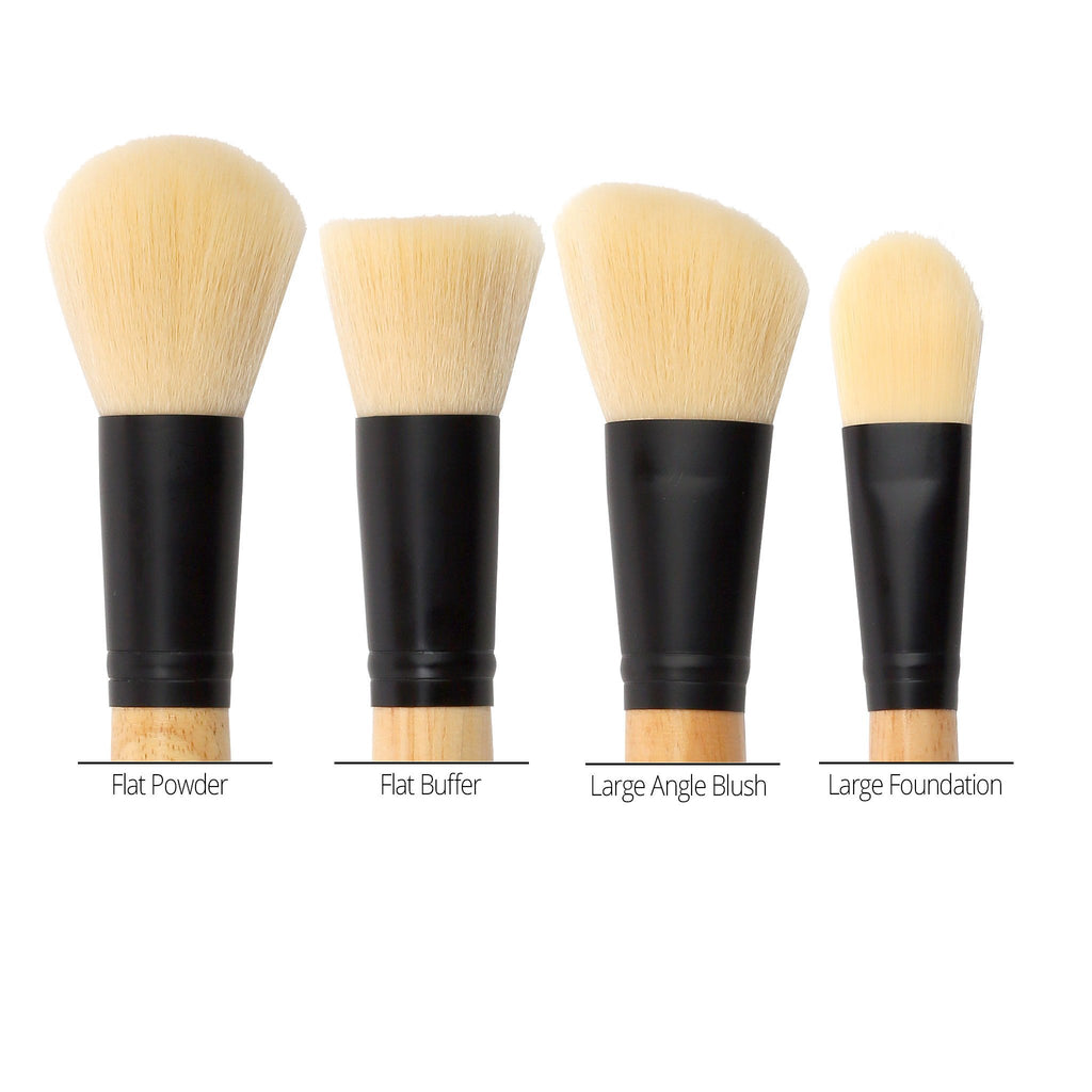 COASTAL SCENTS 4 Piece Face Brush Set