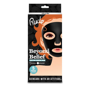 RUDE Beyond Belief Charcoal Face Mask - 5 Pieces