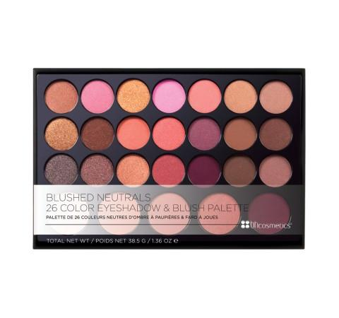 BH COSMETICS Blushed Neutrals - 26 Color Eyeshadow and Blush Palette