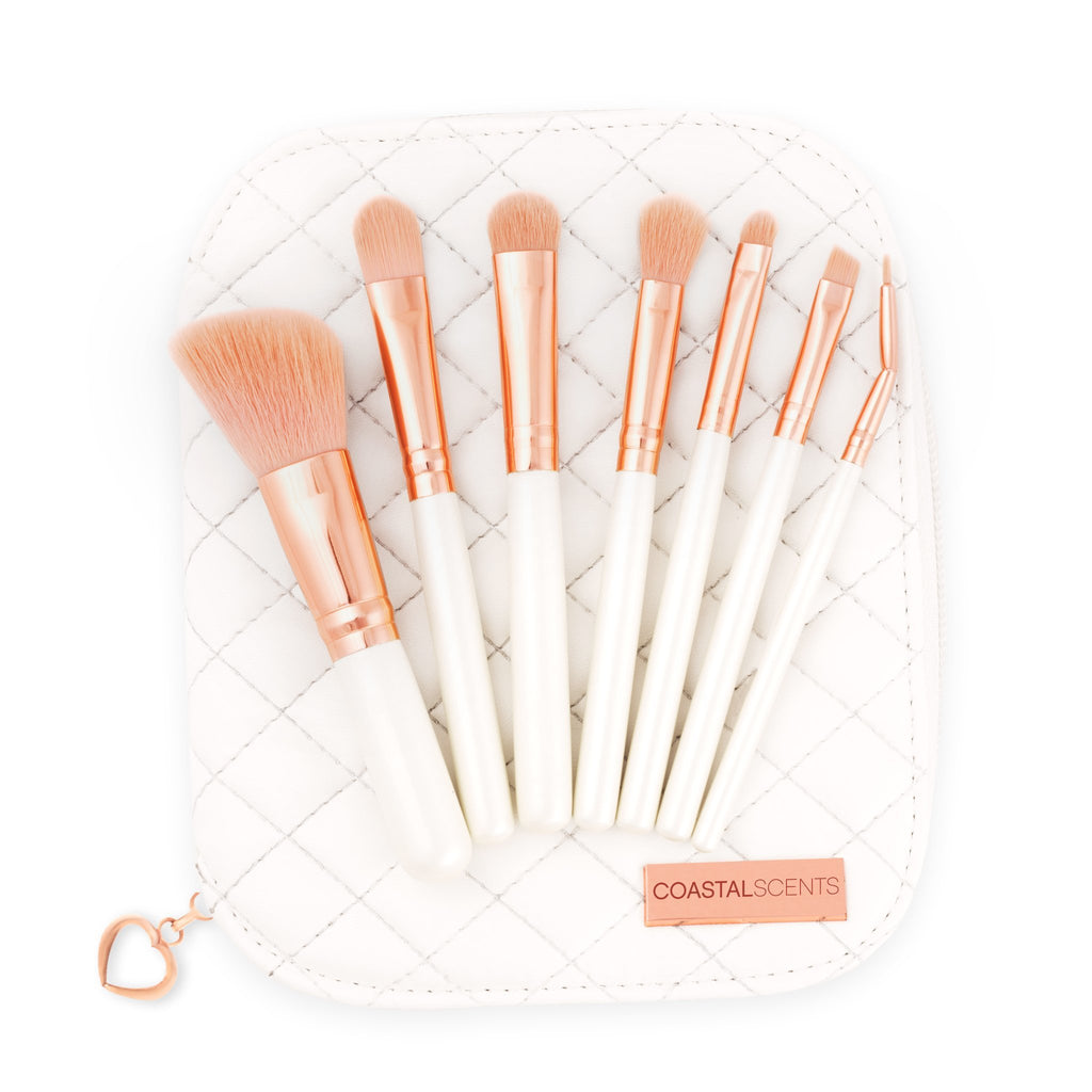 COASTAL SCENTS Rose Gold Makeup Brush Set