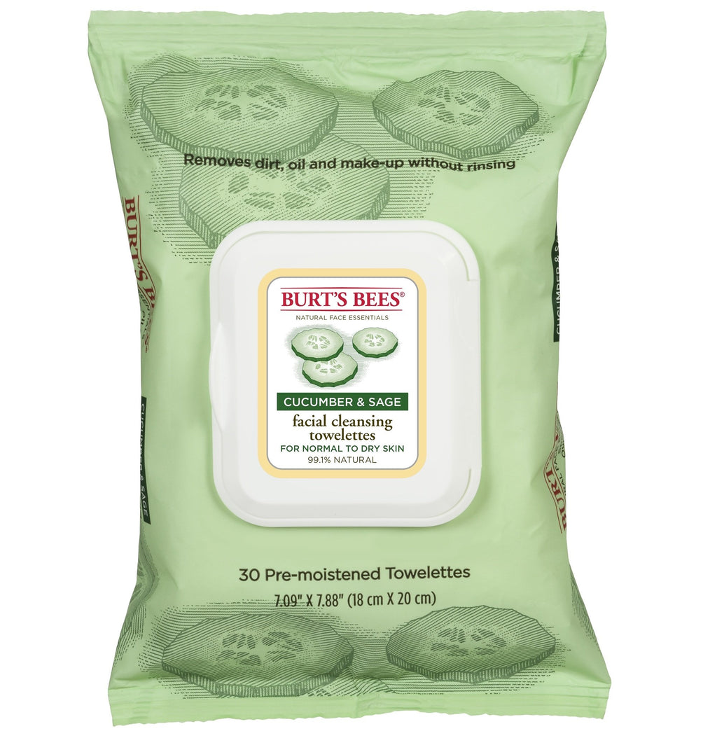 BURT'S BEES Facial Cleansing Towelettes - Cucumber & Sage