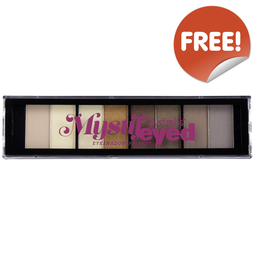 FREE AUSTRALIS MystifEyed Eyeshadow Palette with every purchase of AUSTRALIS over $39 (GWP Offer)