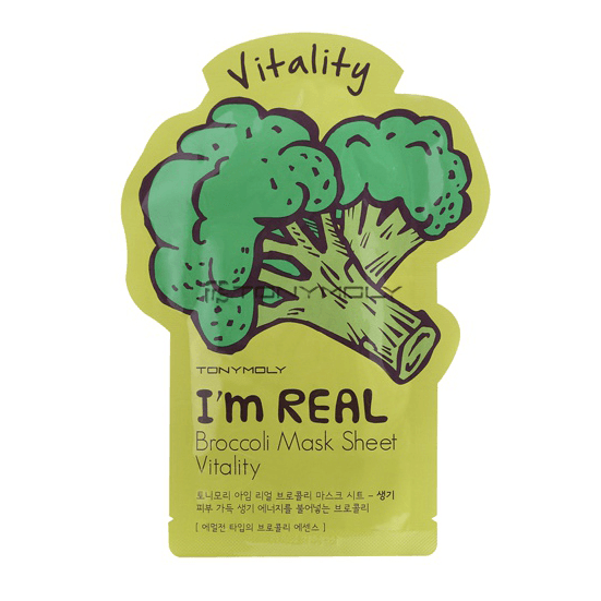 TONYMOLY I'm Real Broccoli Mask Sheet - Vitality