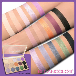 KLEANCOLOR Shadow Collage Multi-Finish Eyeshadow Palette - Fusion
