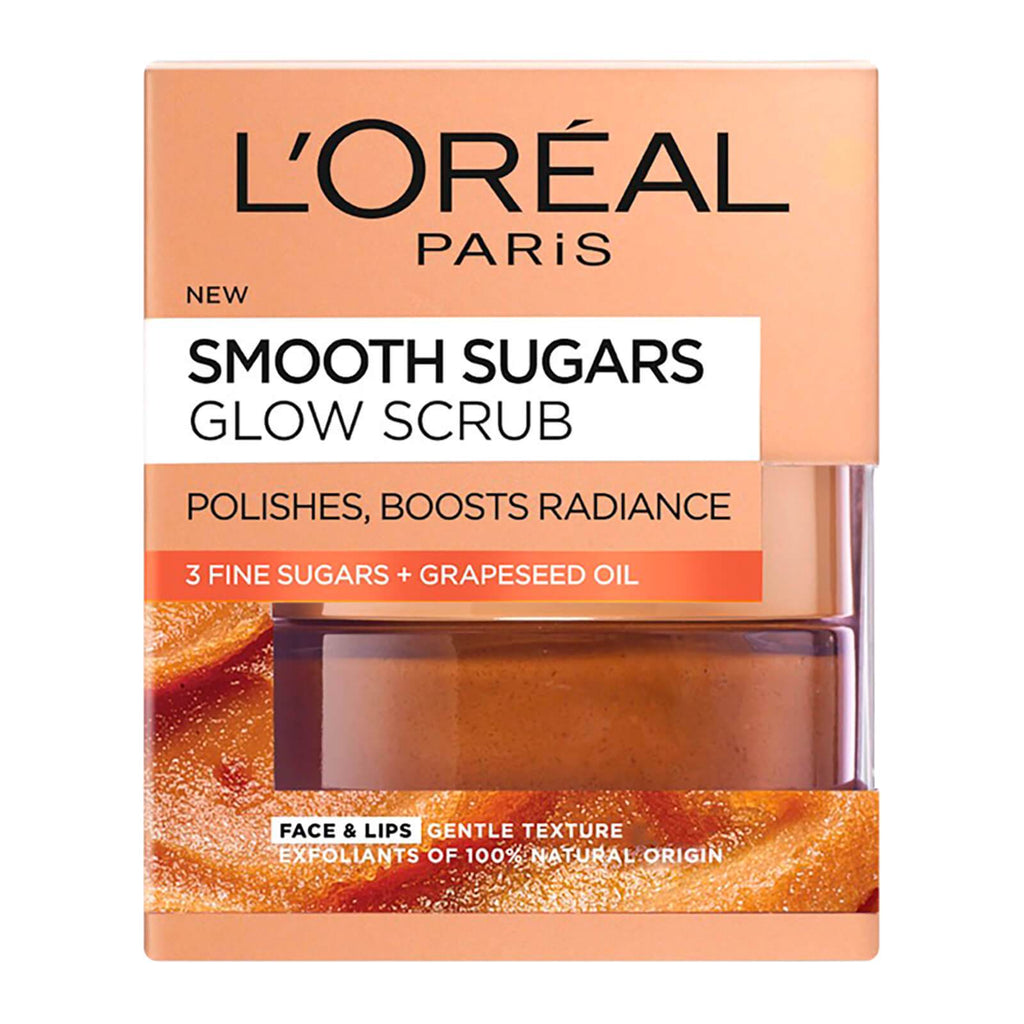L'OREAL Smooth Sugars Glowing Sugar Scrub (50ml)