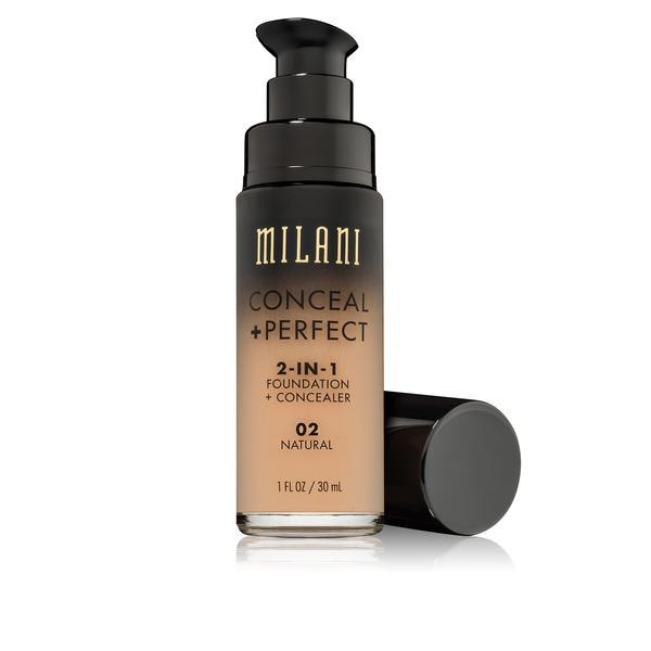MILANI Conceal + Perfect 2-in-1 Foundation + Concealer - Natural #02