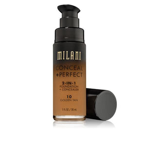 MILANI Conceal + Perfect 2-in-1 Foundation + Concealer - Golden Tan #10