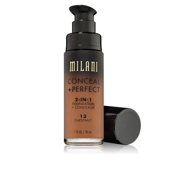 MILANI Conceal + Perfect 2-in-1 Foundation + Concealer - Chestnut #13