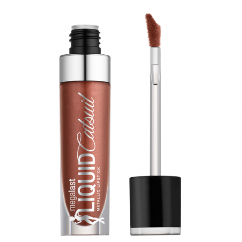 WET N WILD MegaLast Liquid Catsuit Metallic Lipstick - Ride On My Copper