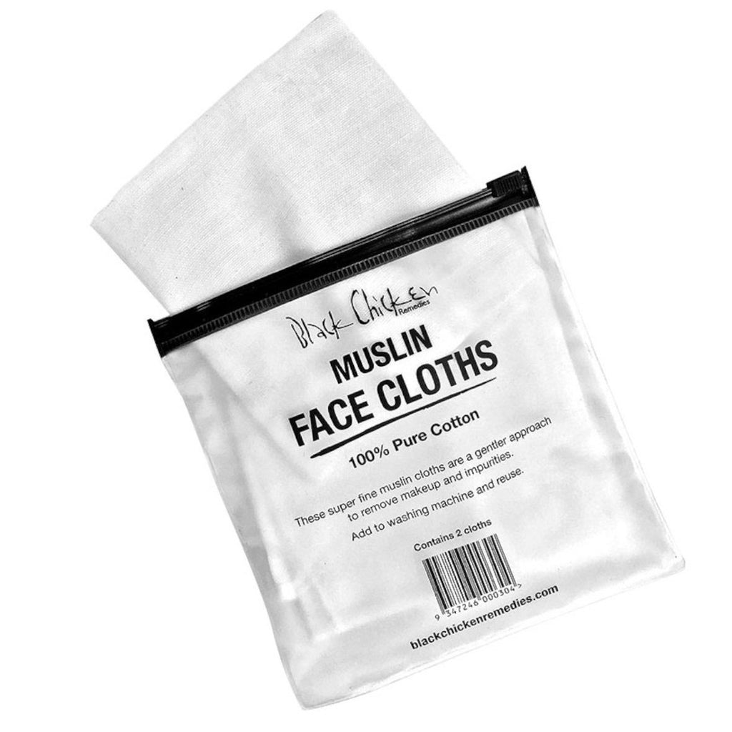 BLACK CHICKEN REMEDIES Muslin Face Cloth Pack