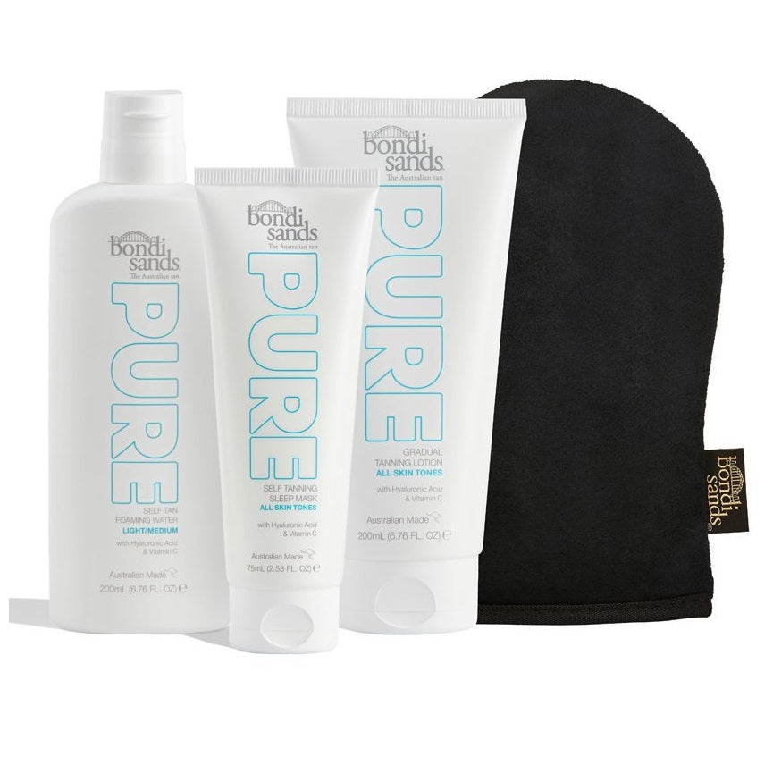 BONDI SANDS Pure Essentials Bundle - Light/Medium (RRP $95.96)