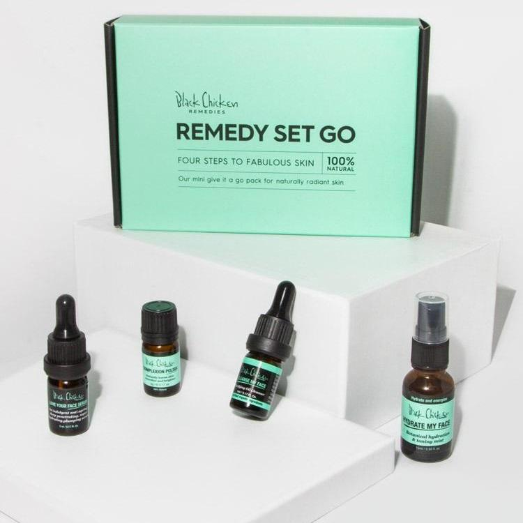 BLACK CHICKEN REMEDIES Remedy-Set-Go Natural Skincare Pack