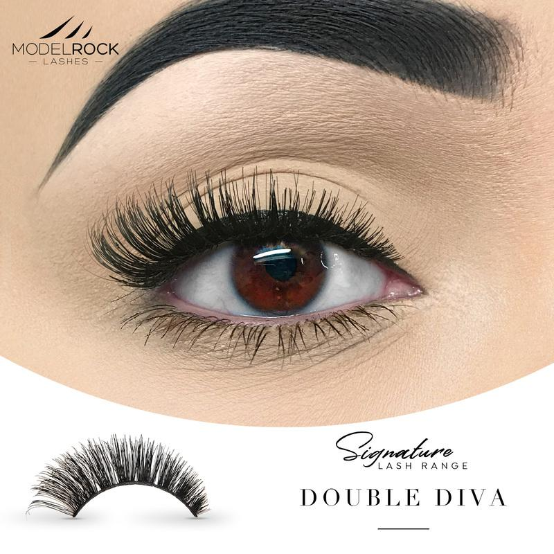 MODELROCK Signature Range Double Layered Lashes - Double DIVA