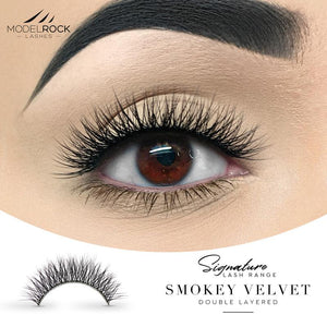 MODELROCK Signature Range Double Layered Lashes - Smokey Velvet