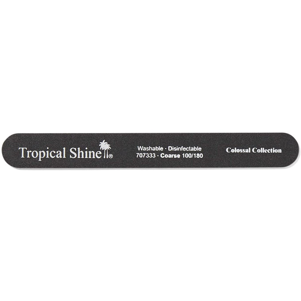 TROPICAL SHINE Colossal Nail File - Black (Coarse)