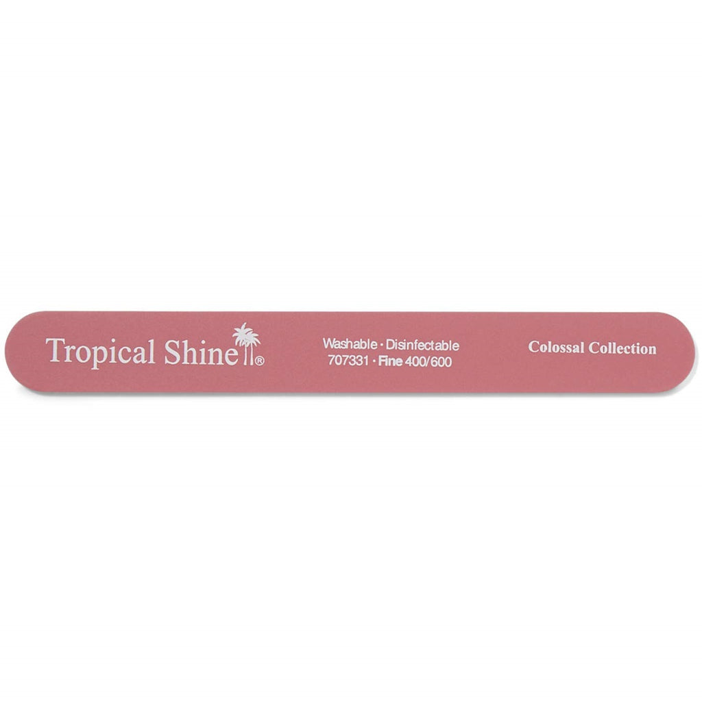 TROPICAL SHINE Colossal Nail File - Pink (Fine)