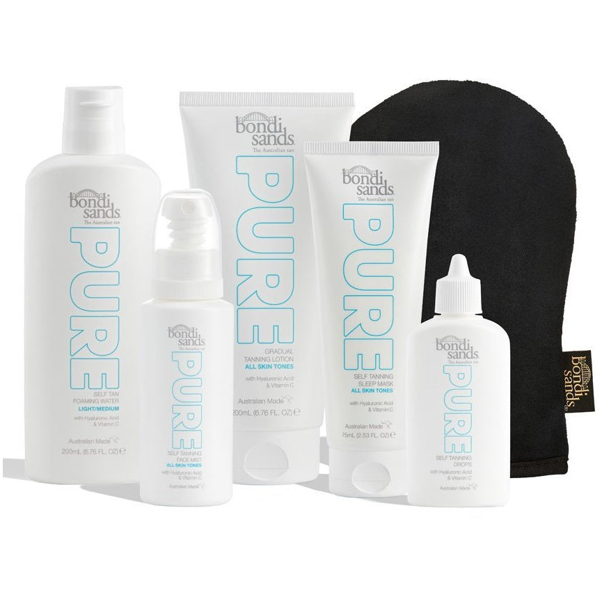 BONDI SANDS Ultimate Pure Bundle - Light/Medium (RRP $149.95)