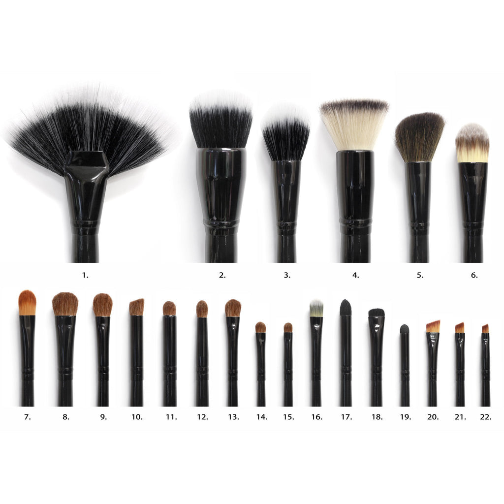 COASTAL SCENTS 22 Piece Makeup Brush Set