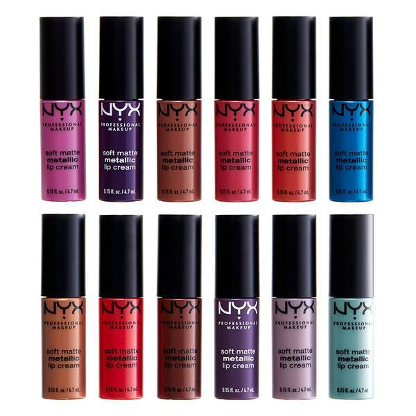 NYX PROFESSIONAL MAKEUP Whipped Wonderland Soft Matte Metallic Lip Cream Set