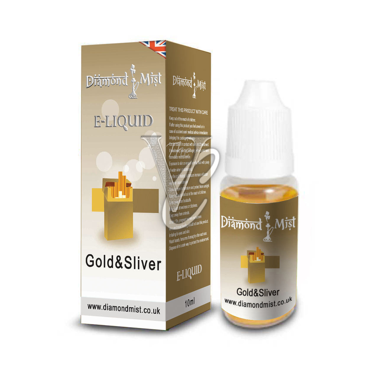 Gold and Silver Tobacco Flavour 10ml - Diamond Mist