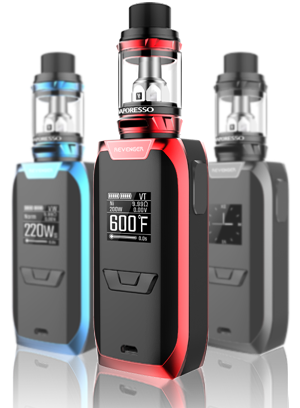 Vaporesso Revenger Kit includes 2x samsung 25r18650 batteries