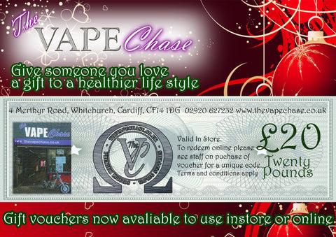 The Vape Chase Gift Vouchers