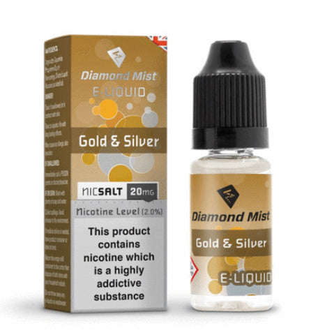 Gold & Silver Tobacco Nic Salt by Diamond Mist 20mg 10ml