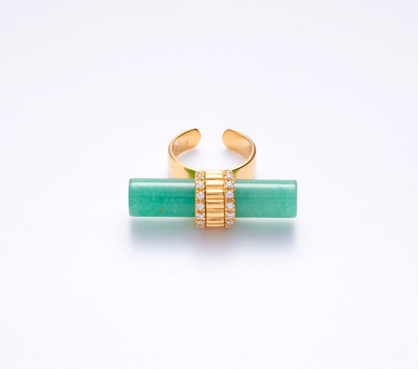 Ora with Green Aventurine in Gold Vermeil