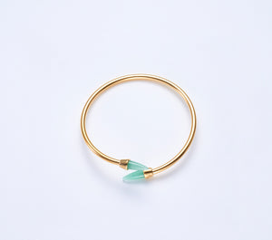 Piek Bangle in Gold with Green Aventurine