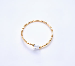 Piek Bangle in Gold with Howlite