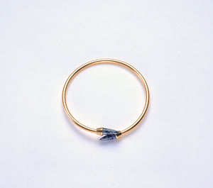 Piek Bangle in Gold with Snowflake