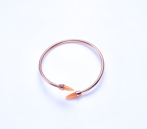 Piek Bangle in Rose Gold with Orange Aventurine