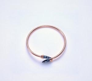 Piek Bangle in Rose Gold with Snowflake